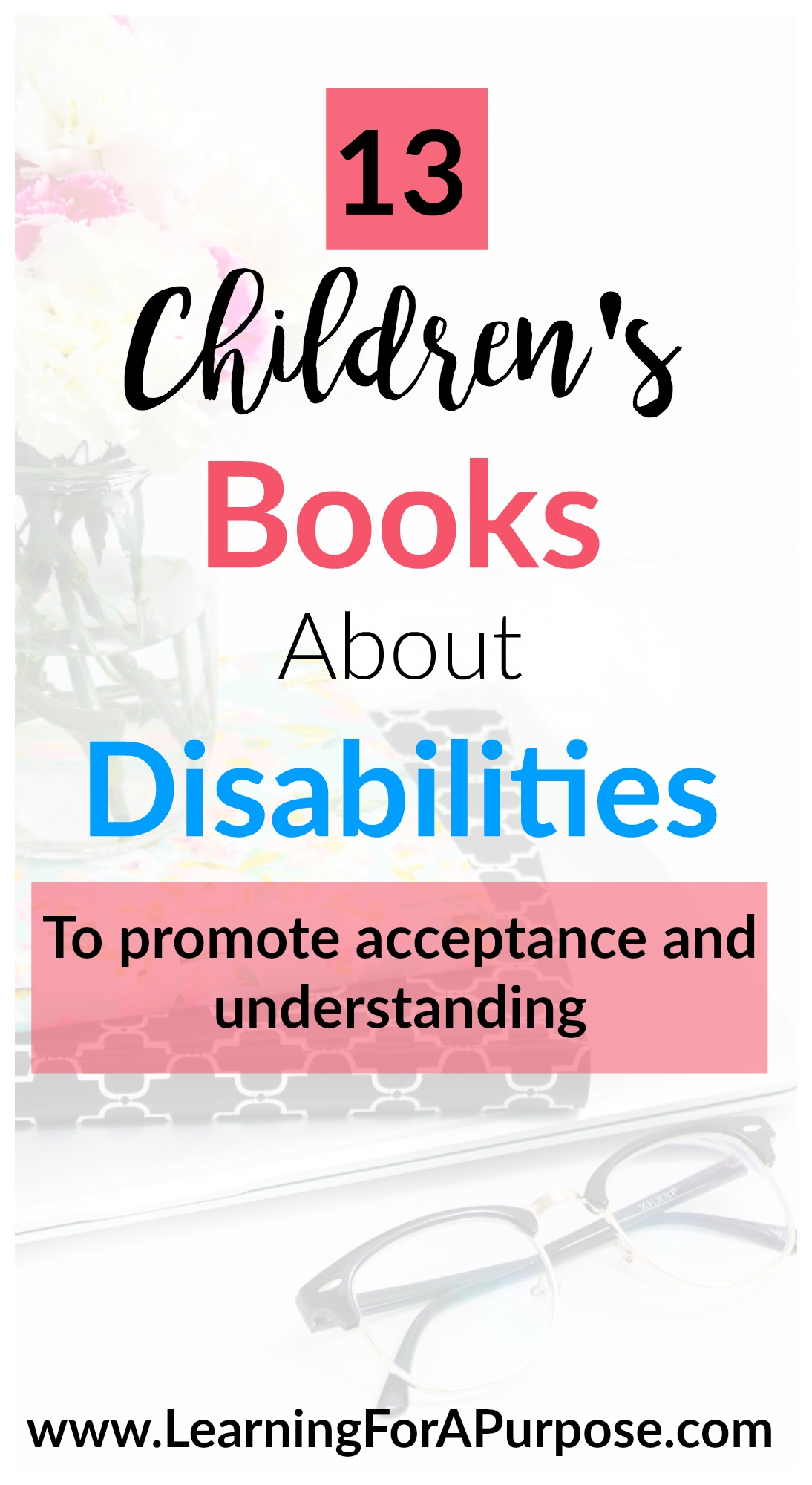 13 books about disabilities pin