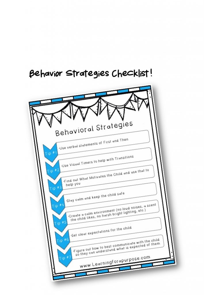 Behavioral Strategies FREE Preview Image