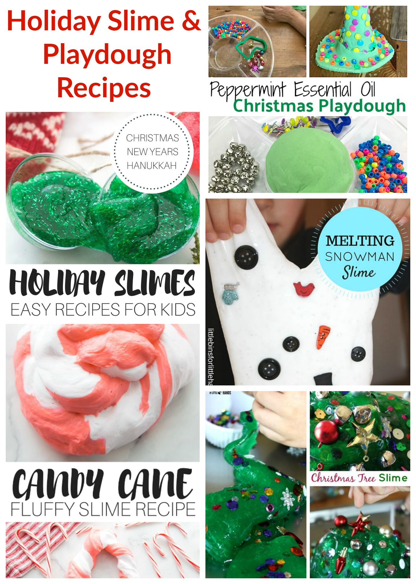 Holiday Slime and Playdough Recipes