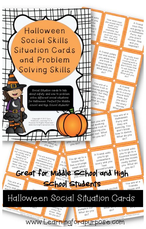 Halloween Social Situation Cards