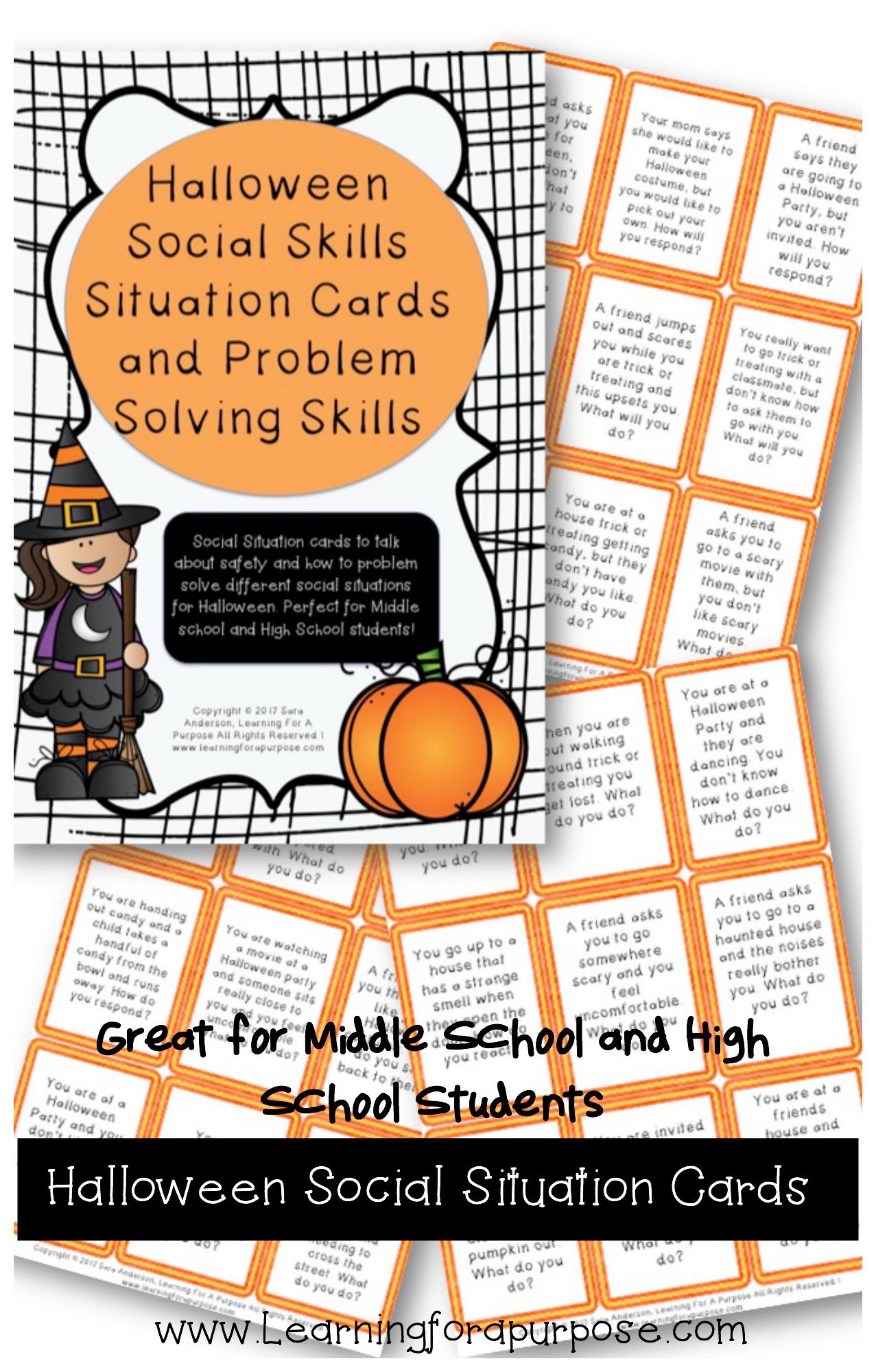 Halloween Social Situation Cards