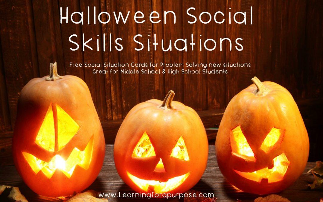 Halloween Social Skills Situations