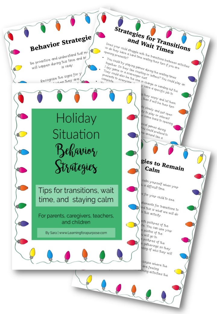 Holiday Situation Behavior Strategies