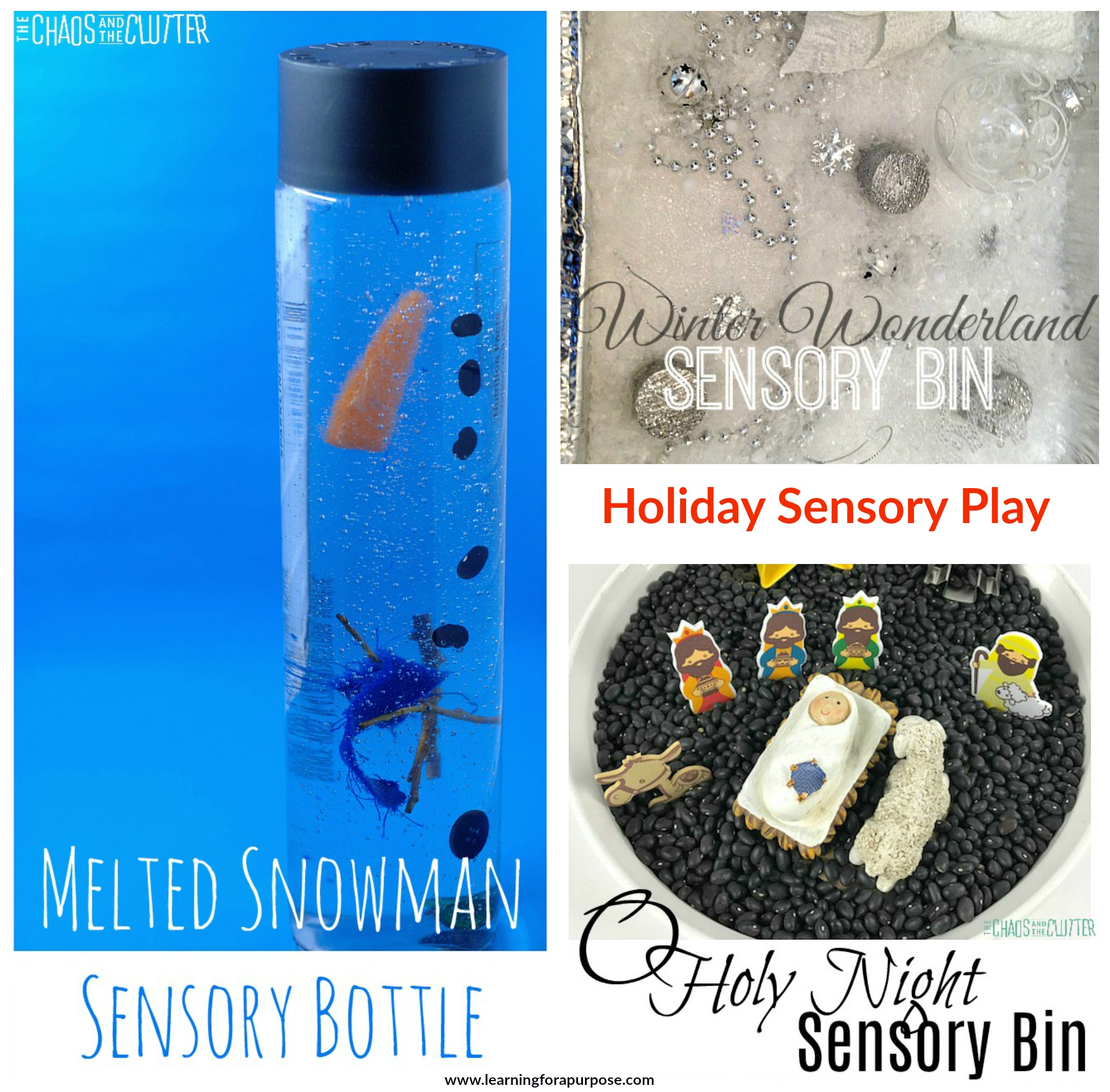 Holiday Sensory Play Collage