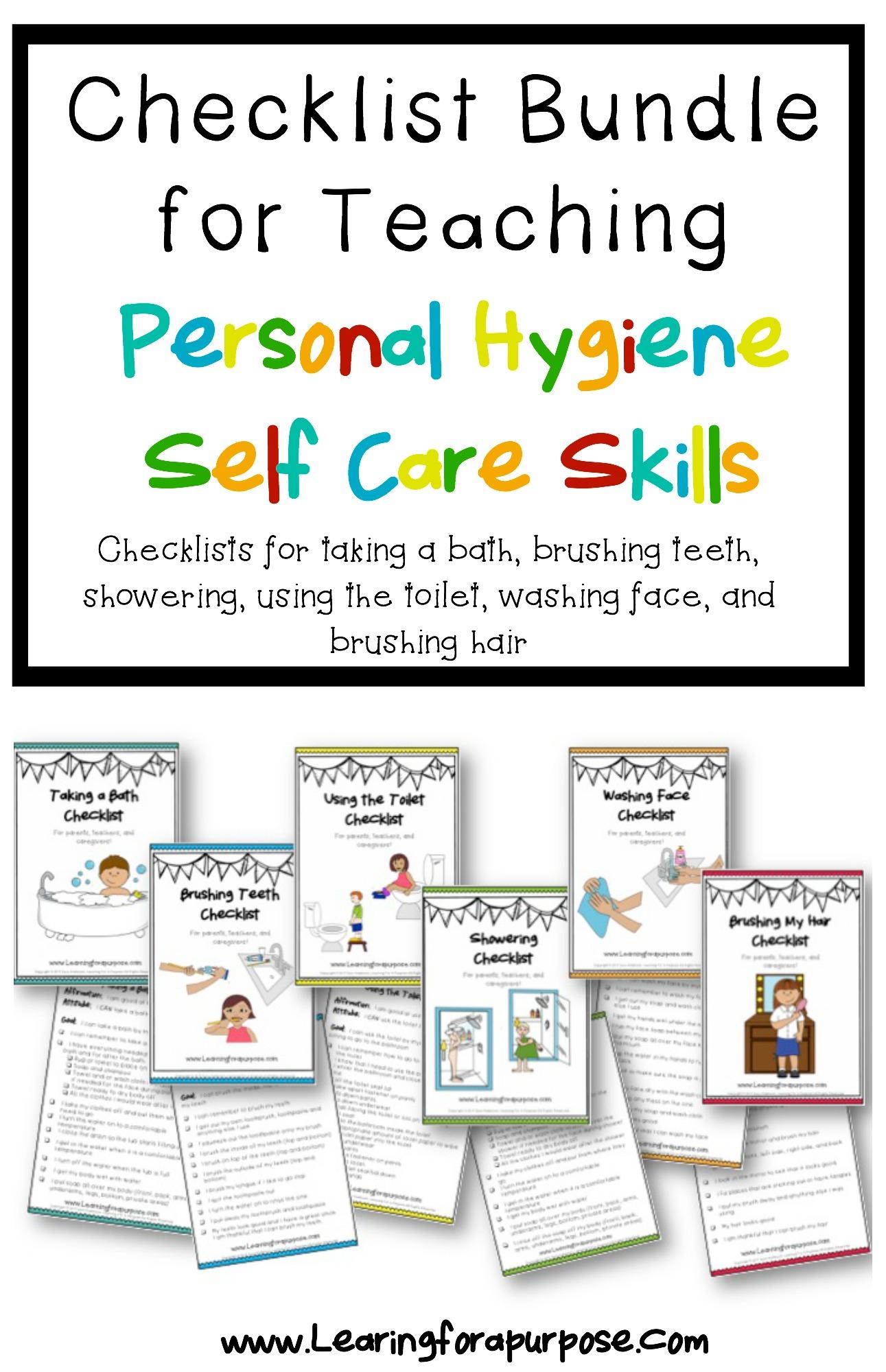 bathroom checklist bundle  learning for a purpose - bathroom checklist bundle