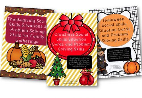 Holiday Social Skills Situation Cards Bundle