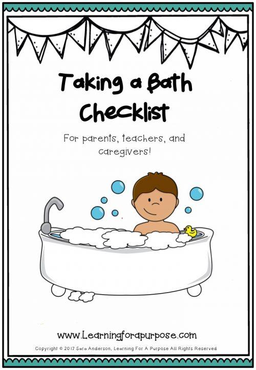 Taking a Bath Checklist