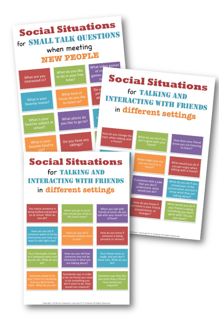 Social Situations for Making Friends