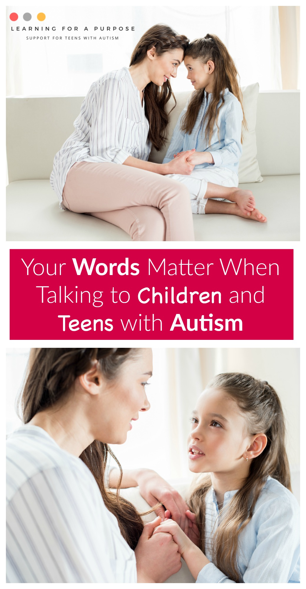 Your Words Matter when talking to Children and Teens with Autism #Autism #children #teens