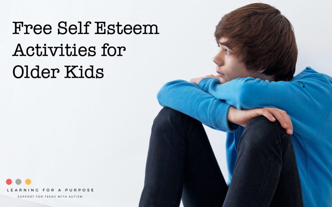 Free Self Esteem Activities for Older Kids