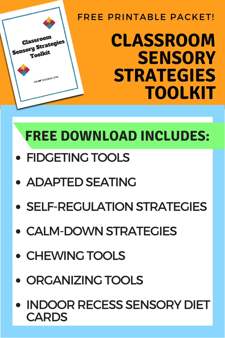 classroom sensory diet toolkit #sensory