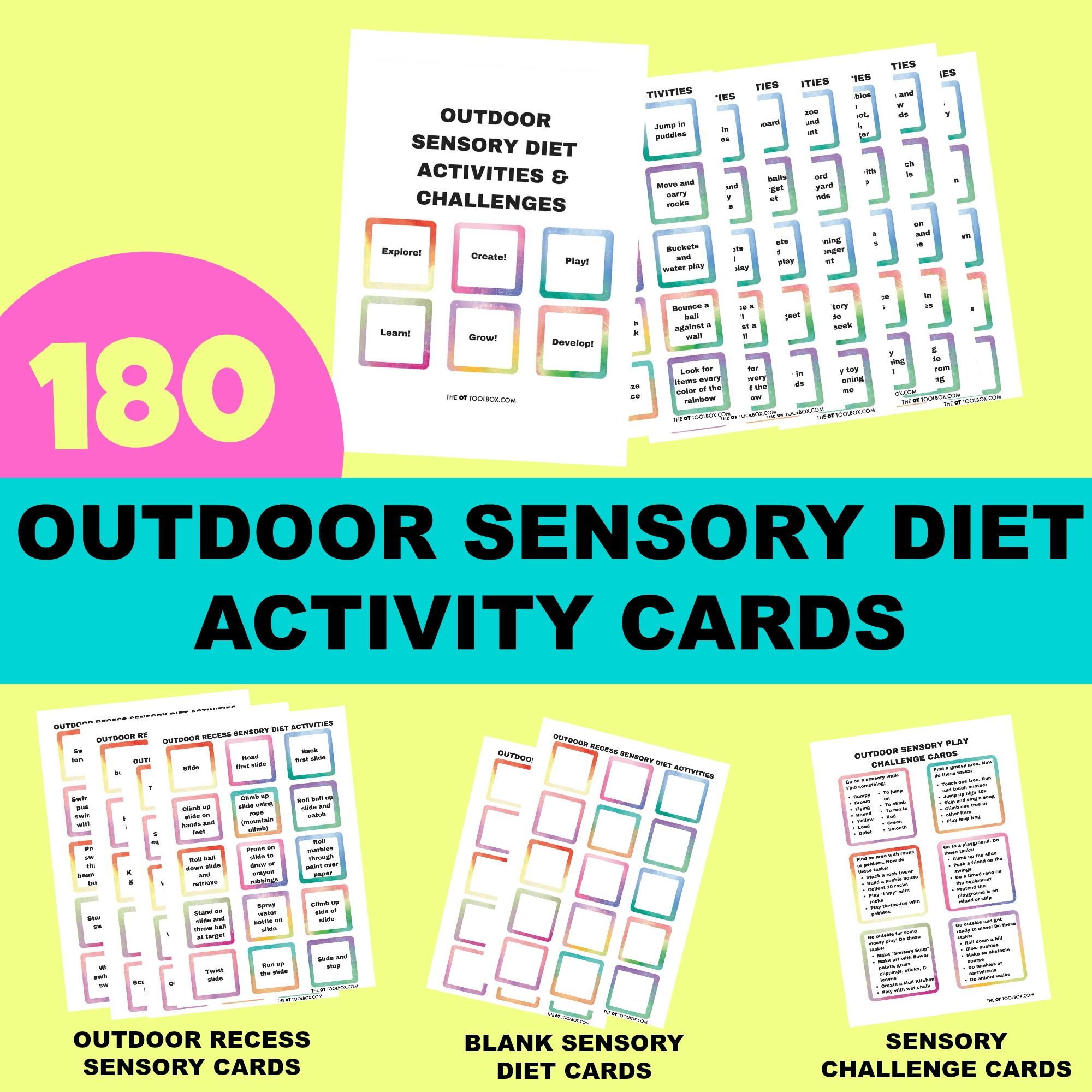outdoor sensory diet activity cards #sensory