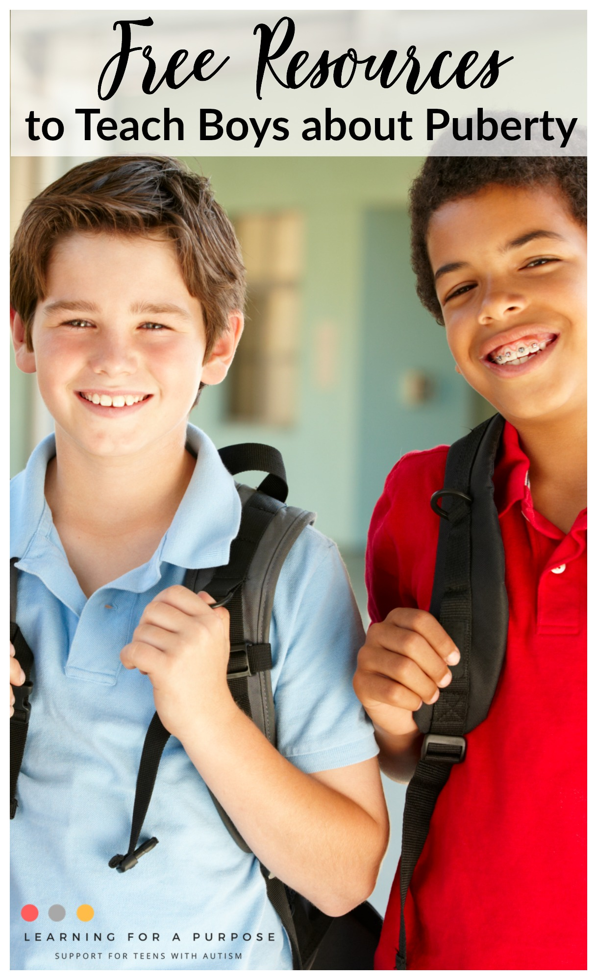 Free Resources to Teach Boys about Puberty #puberty #boys
