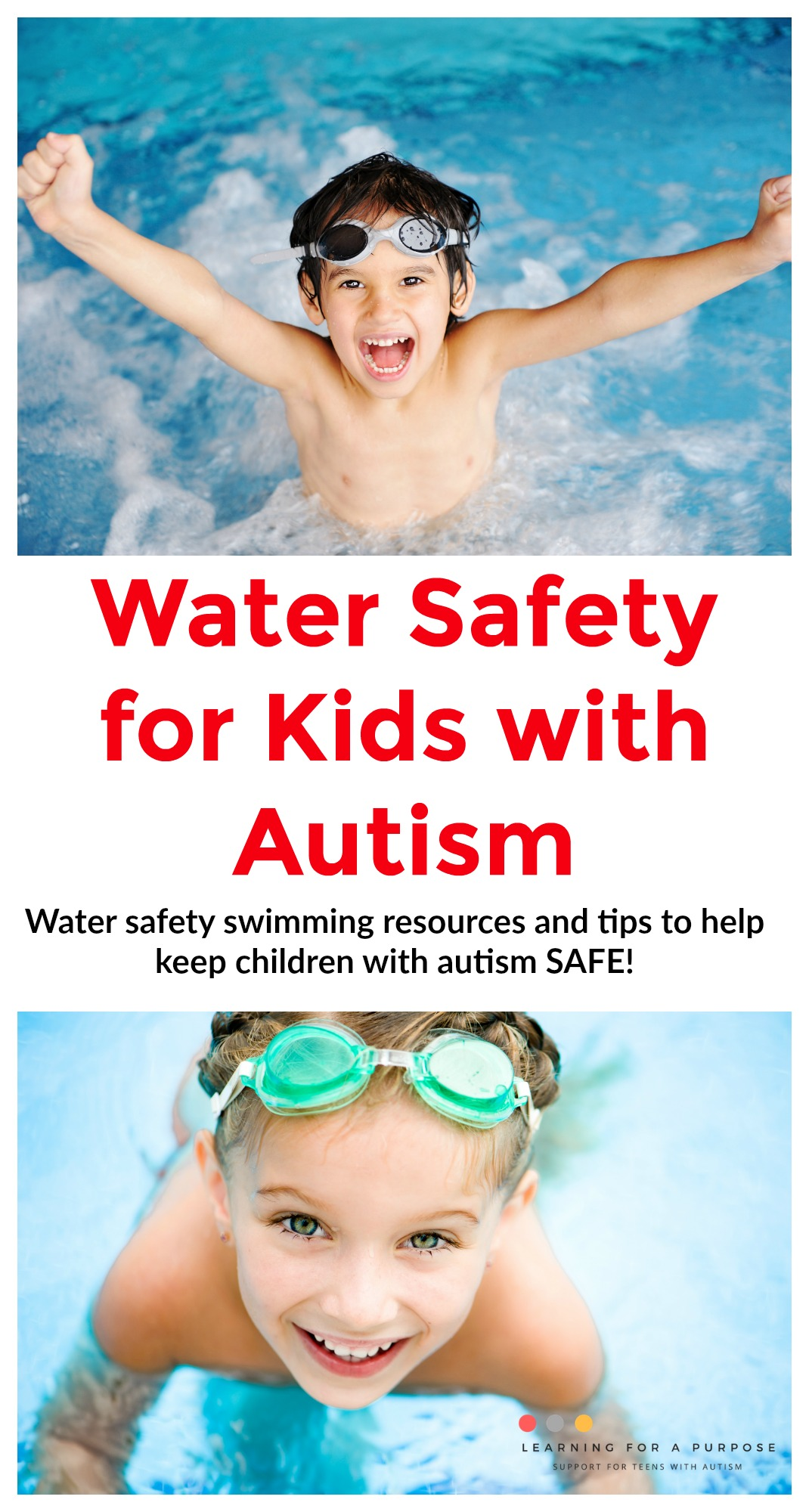 water safety for kids with autism #safety #water #swim #autism