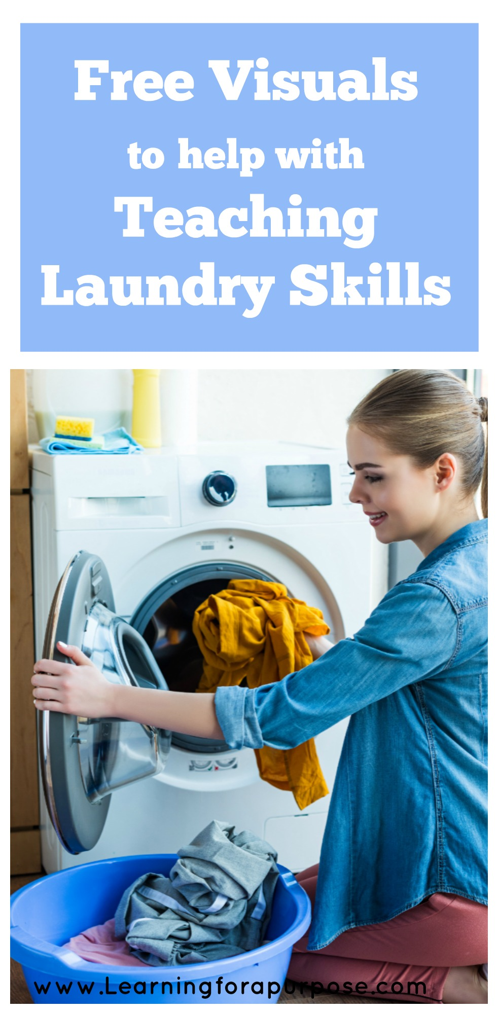 Free Visuals to help with Teaching Laundry Skills