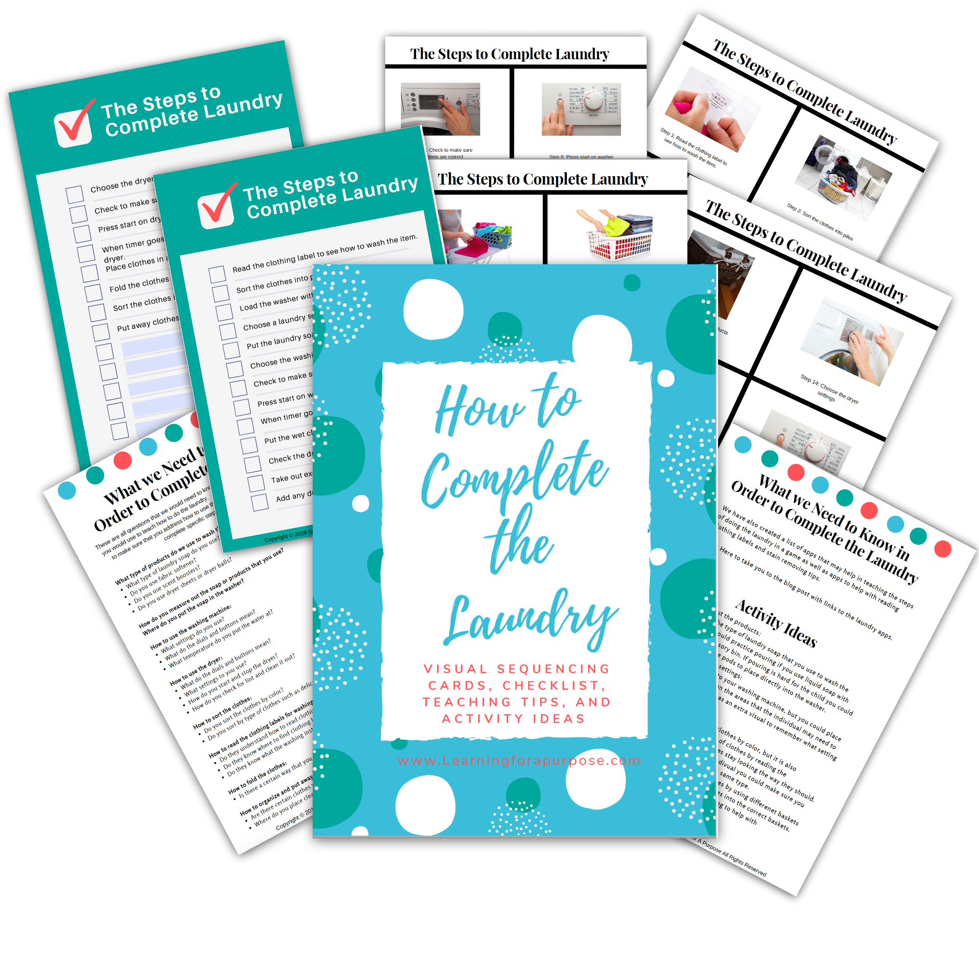 How to Complete the Laundry Printable Display Image