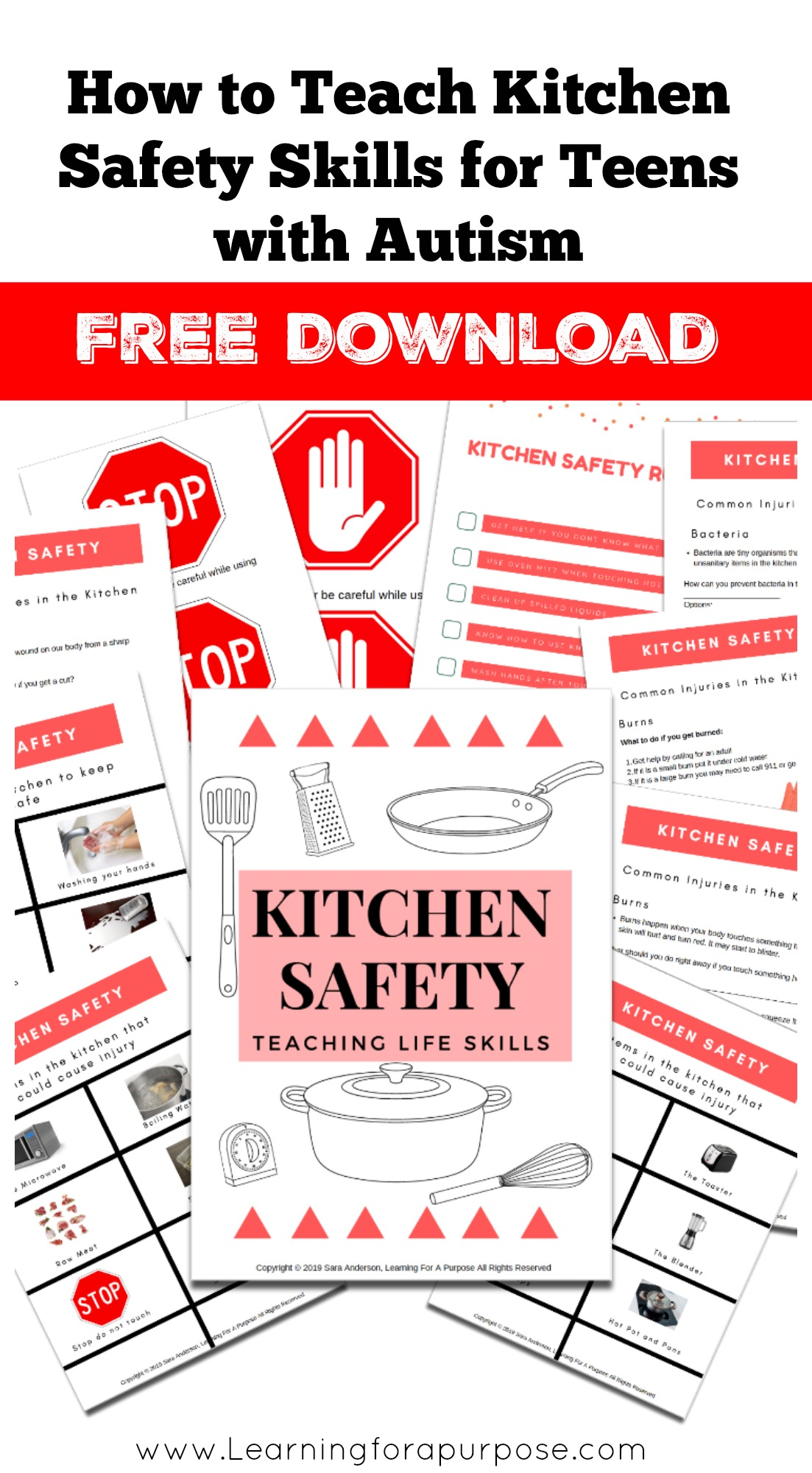 How to Teach Kitchen Safety Skills for Teens with Autism Pinterest Image free download
