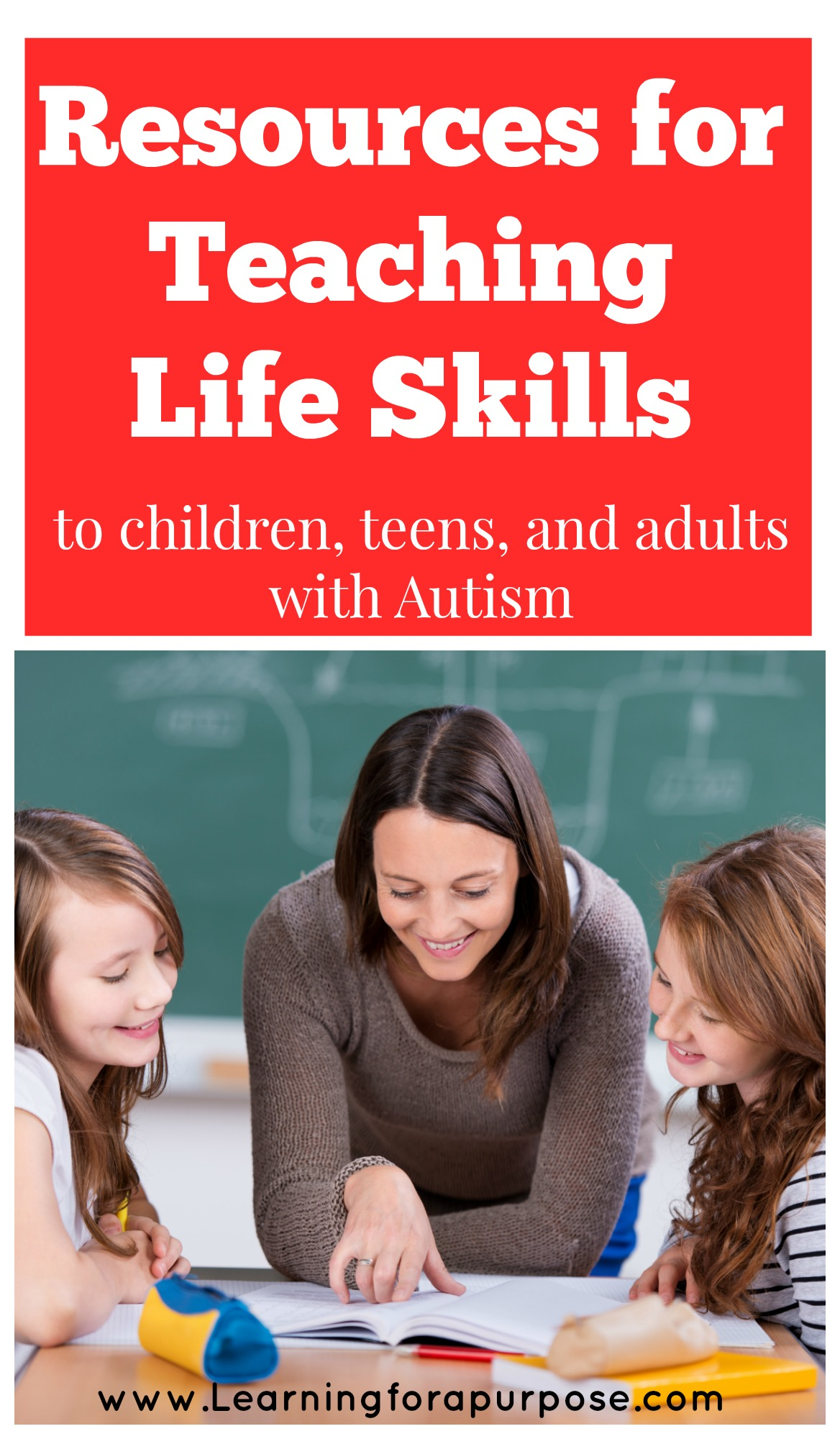 Resources for Teaching Life skills to children, teens, and adults with autism #lifeskills #autism