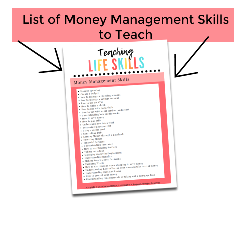 Money Management Display Image for Printable