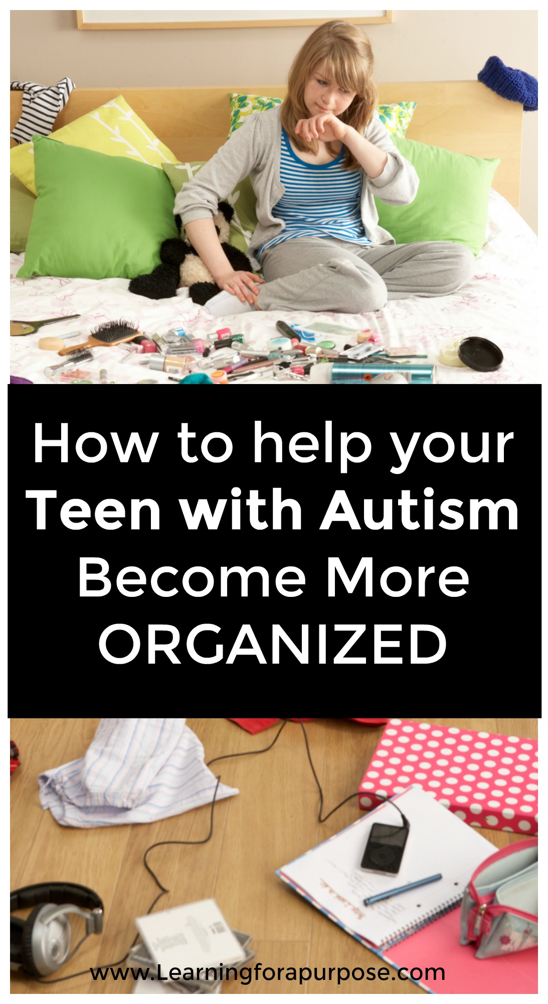 how to help your teen with autism become more organized