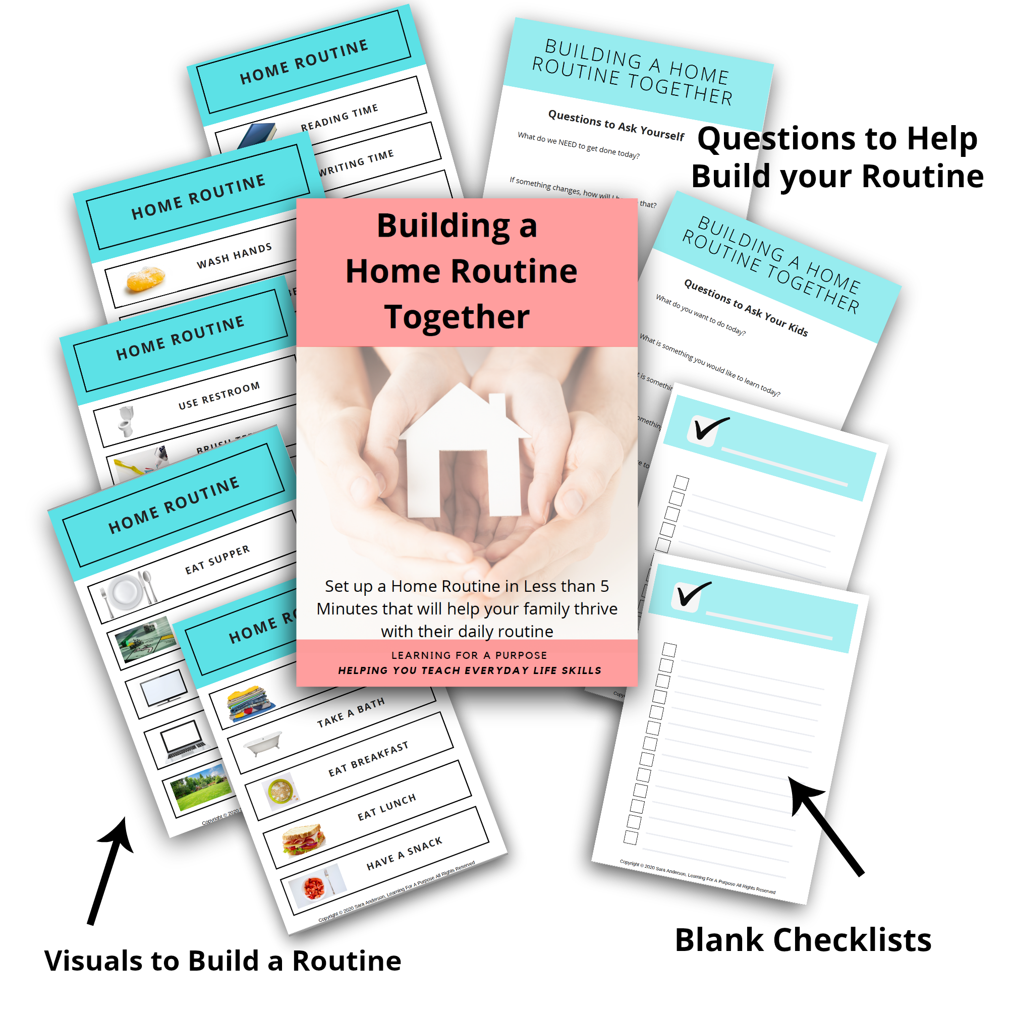 Building A Home Routine Together Freebie Display image
