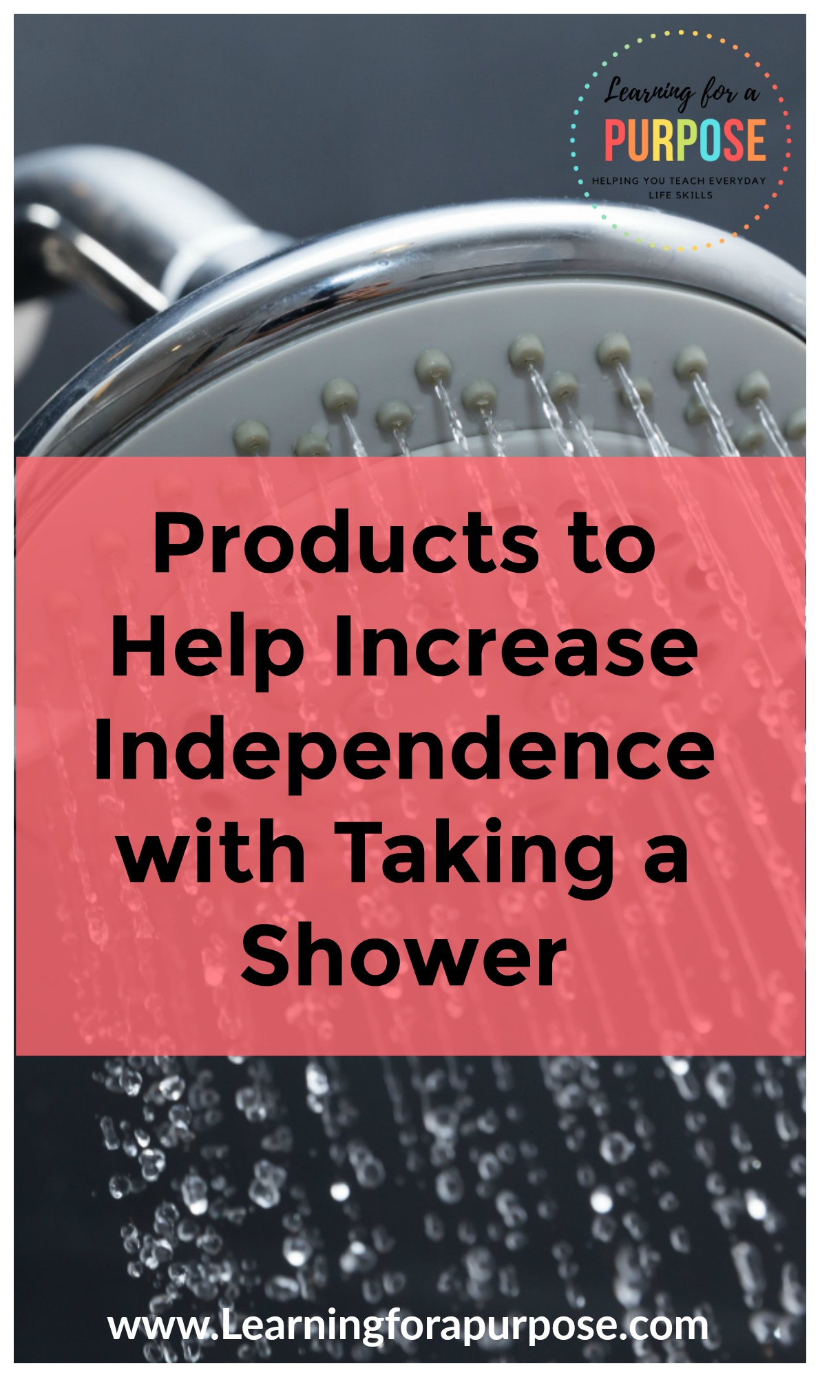 Products to help increase independence with taking a shower
